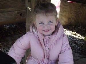 toddler girl outside winter