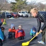 playground hockey with pre-k