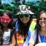 three girls summer party