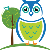 George the owl - Child care mascot