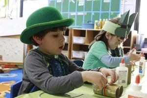 hats and craft day with children