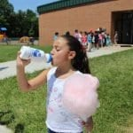 girl with cotton candy