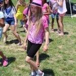 girl in pink dancing
