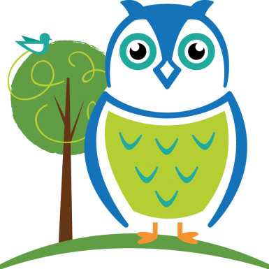 George the owl - Child care mascot