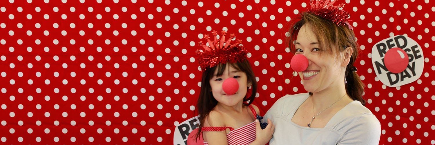 mother and daughter at Red Nose Day