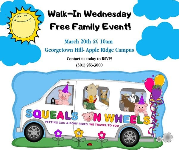 Squeals on Wheels event apple ridge march 20th