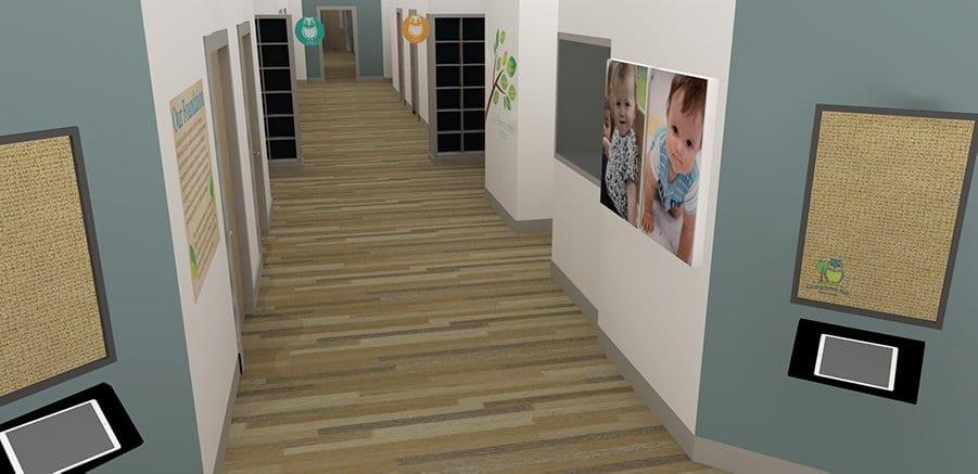 Potomac village preschool hallway