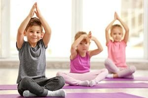 kids yoga at child care center