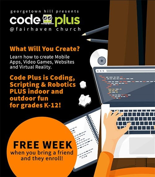 code plus landng page info 2