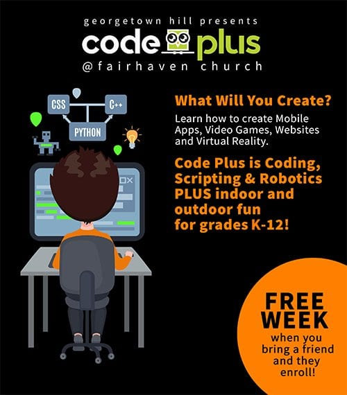 code plus landng page info