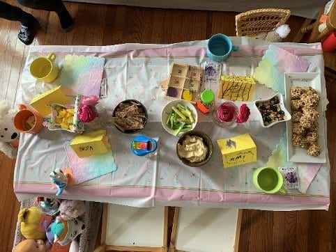 tea party layout